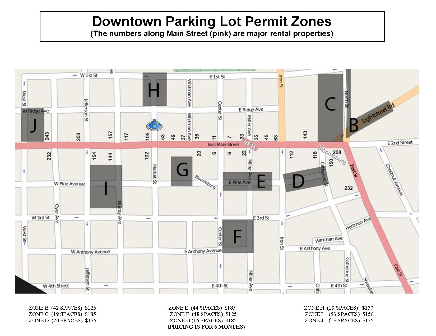 PARKING LOT PERMIT ZONES MAP APRIL 2017